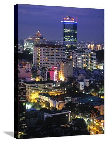 Saigon City, Ho Chi Minh City, Vietnam-Walter Bibikow-Stretched Canvas Print