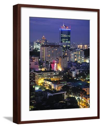 Saigon City, Ho Chi Minh City, Vietnam-Walter Bibikow-Framed Art Print