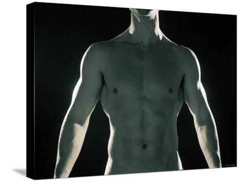 Man with Muscular Arms and Chest--Stretched Canvas Print