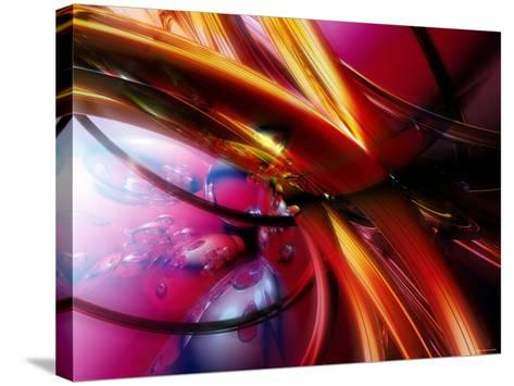 Abstract Streaming Vibrant Colors--Stretched Canvas Print