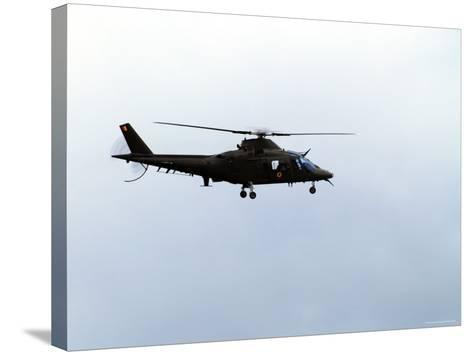 The Agusta A-109 Helicopter of the Belgian Army in Flight-Stocktrek Images-Stretched Canvas Print