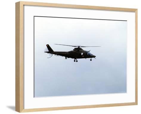 The Agusta A-109 Helicopter of the Belgian Army in Flight-Stocktrek Images-Framed Art Print