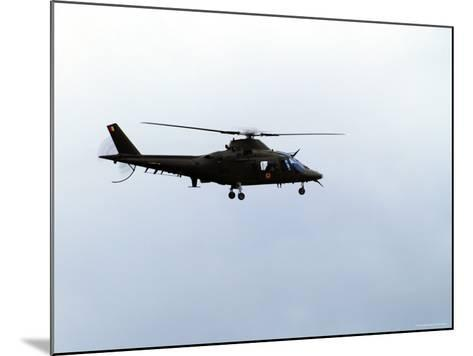 The Agusta A-109 Helicopter of the Belgian Army in Flight-Stocktrek Images-Mounted Photographic Print