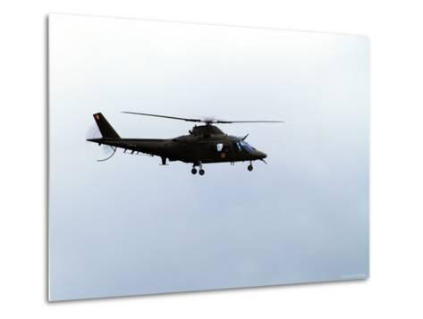 The Agusta A-109 Helicopter of the Belgian Army in Flight-Stocktrek Images-Metal Print