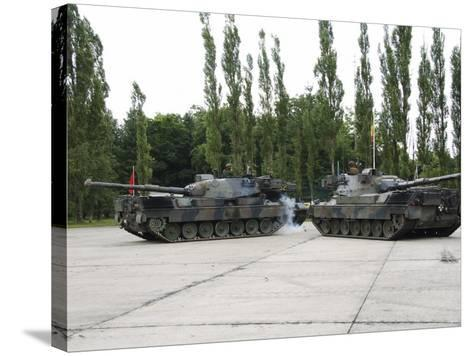 The Leopard 1A5 of the Belgian Army in Action-Stocktrek Images-Stretched Canvas Print