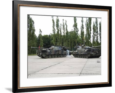 The Leopard 1A5 of the Belgian Army in Action-Stocktrek Images-Framed Art Print