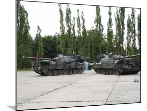 The Leopard 1A5 of the Belgian Army in Action-Stocktrek Images-Mounted Photographic Print