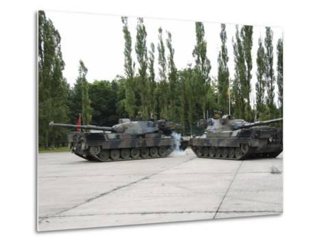 The Leopard 1A5 of the Belgian Army in Action-Stocktrek Images-Metal Print