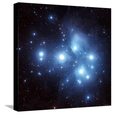 Pleiades Star Cluster-Stocktrek Images-Stretched Canvas Print