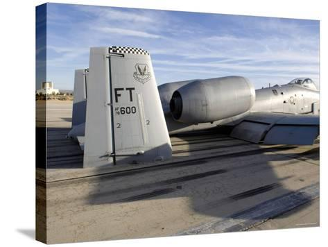 The Tail Section of an A-10 Making Direct Contact with Runway-Stocktrek Images-Stretched Canvas Print