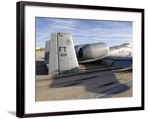 The Tail Section of an A-10 Making Direct Contact with Runway-Stocktrek Images-Framed Art Print