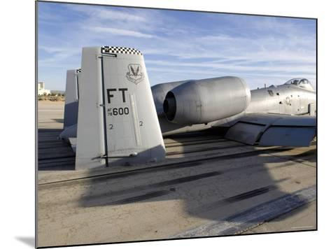 The Tail Section of an A-10 Making Direct Contact with Runway-Stocktrek Images-Mounted Photographic Print