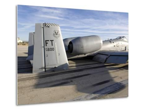 The Tail Section of an A-10 Making Direct Contact with Runway-Stocktrek Images-Metal Print
