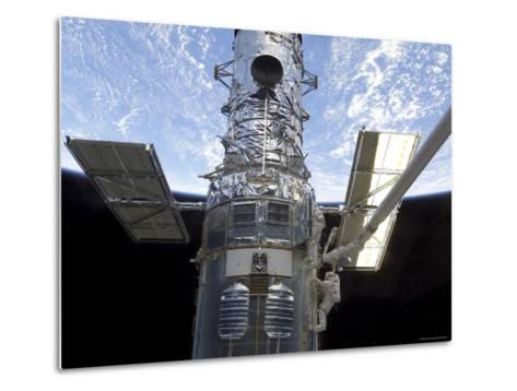 Astronauts Participate in Extravehicular Activity on the Hubble Space Telescope-Stocktrek Images-Metal Print