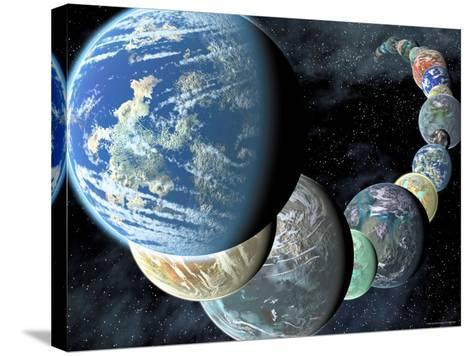 Artist's Concept of Terrestrial Worlds-Stocktrek Images-Stretched Canvas Print