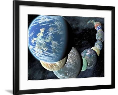Artist's Concept of Terrestrial Worlds-Stocktrek Images-Framed Art Print