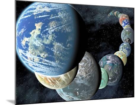 Artist's Concept of Terrestrial Worlds-Stocktrek Images-Mounted Photographic Print