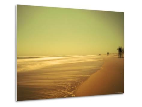 Golden Beach Landscape-Jan Lakey-Metal Print