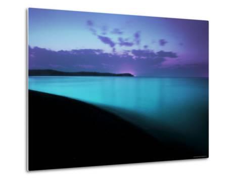 Glowing Turquoise Blue Waters-Jan Lakey-Metal Print