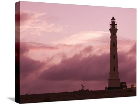 California Lighthouse, North End, Aruba, Caribbean-Walter Bibikow-Stretched Canvas Print