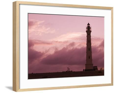 California Lighthouse, North End, Aruba, Caribbean-Walter Bibikow-Framed Art Print