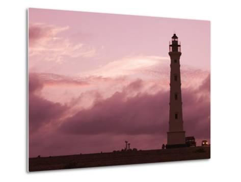 California Lighthouse, North End, Aruba, Caribbean-Walter Bibikow-Metal Print