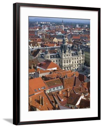 Town Hall, Graz, Styria, Austria-Walter Bibikow-Framed Art Print
