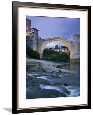 The Old Bridge, Mostar, Bosnia and Herzegovina-Walter Bibikow-Framed Art Print