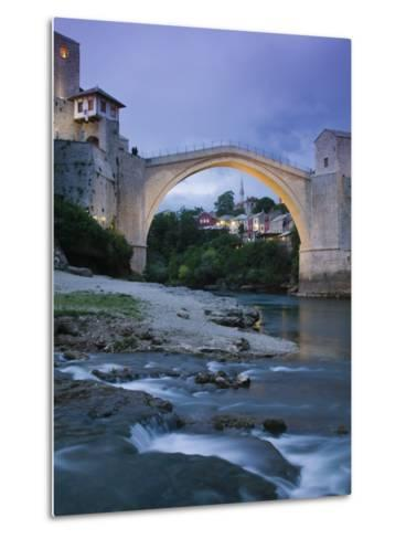 The Old Bridge, Mostar, Bosnia and Herzegovina-Walter Bibikow-Metal Print