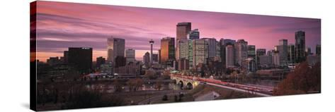 Calgary, Alberta, Canada-Walter Bibikow-Stretched Canvas Print