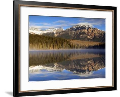 Pyramid Lake, Jasper National Park, Alberta, Canada-Walter Bibikow-Framed Art Print