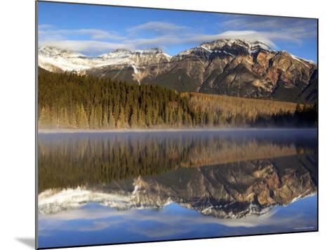 Pyramid Lake, Jasper National Park, Alberta, Canada-Walter Bibikow-Mounted Photographic Print