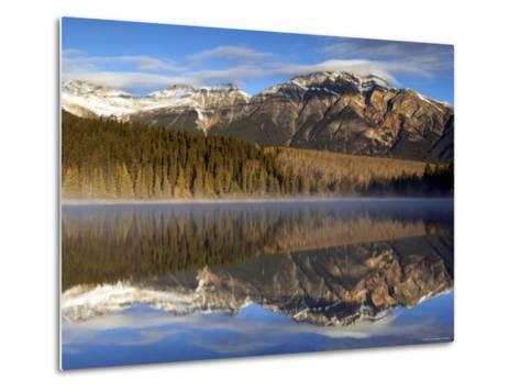 Pyramid Lake, Jasper National Park, Alberta, Canada-Walter Bibikow-Metal Print
