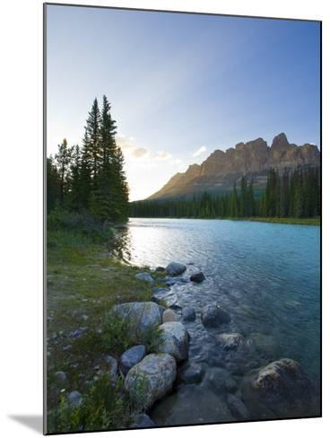 Castle Mountain and Bow River, Banff National Park, Alberta, Canada-Michele Falzone-Mounted Photographic Print