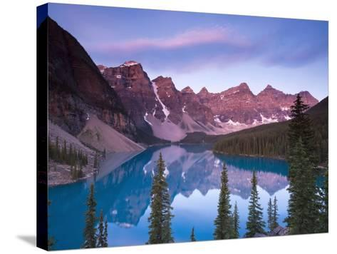 Moraine Lake and Valley of 10 Peaks, Banff National Park, Alberta, Canada-Michele Falzone-Stretched Canvas Print