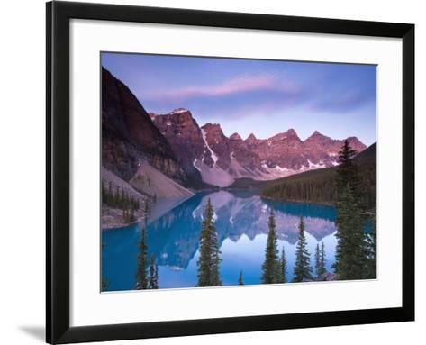 Moraine Lake and Valley of 10 Peaks, Banff National Park, Alberta, Canada-Michele Falzone-Framed Art Print