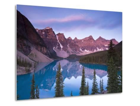 Moraine Lake and Valley of 10 Peaks, Banff National Park, Alberta, Canada-Michele Falzone-Metal Print