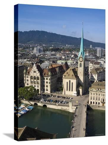 City Skyline and River Limmat, Zurich, Switzerland-Doug Pearson-Stretched Canvas Print