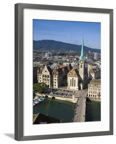 City Skyline and River Limmat, Zurich, Switzerland-Doug Pearson-Framed Art Print