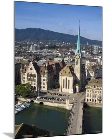 City Skyline and River Limmat, Zurich, Switzerland-Doug Pearson-Mounted Photographic Print