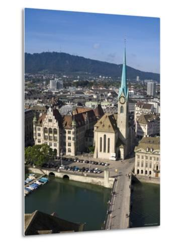 City Skyline and River Limmat, Zurich, Switzerland-Doug Pearson-Metal Print