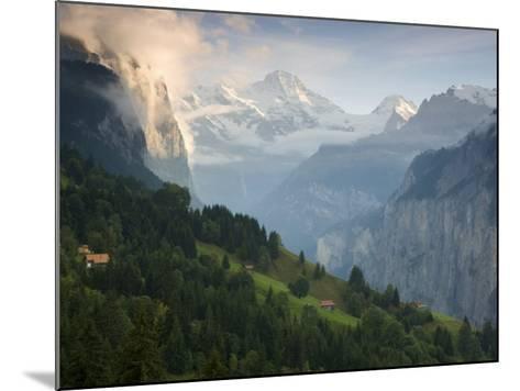 Wengen and Lauterbrunnen Valley, Berner Oberland, Switzerland-Doug Pearson-Mounted Photographic Print