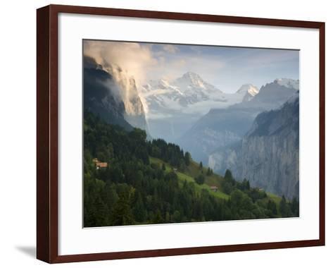 Wengen and Lauterbrunnen Valley, Berner Oberland, Switzerland-Doug Pearson-Framed Art Print