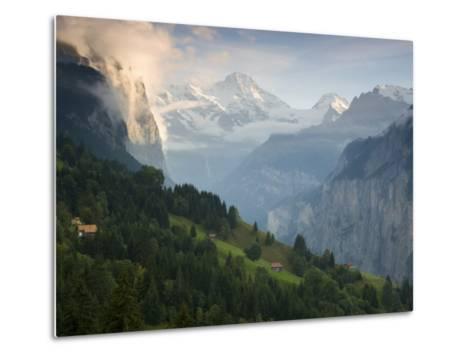 Wengen and Lauterbrunnen Valley, Berner Oberland, Switzerland-Doug Pearson-Metal Print