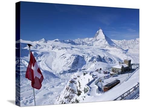 Gornergrat Mountain, Zermatt, Valais, Switzerland-Walter Bibikow-Stretched Canvas Print