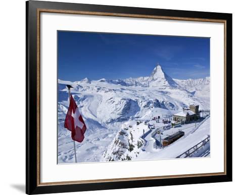 Gornergrat Mountain, Zermatt, Valais, Switzerland-Walter Bibikow-Framed Art Print