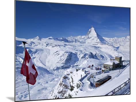 Gornergrat Mountain, Zermatt, Valais, Switzerland-Walter Bibikow-Mounted Photographic Print