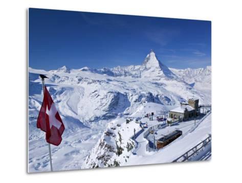 Gornergrat Mountain, Zermatt, Valais, Switzerland-Walter Bibikow-Metal Print