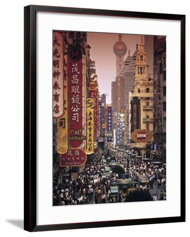 Nanjing Dong Lu, Shanghai, China-Walter Bibikow-Framed Art Print