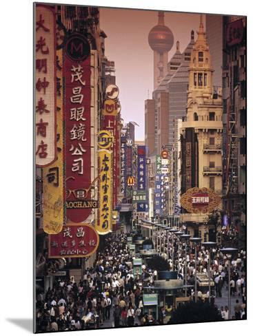 Nanjing Dong Lu, Shanghai, China-Walter Bibikow-Mounted Photographic Print